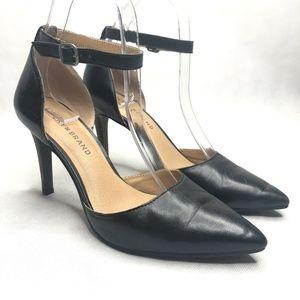 Lucky Brand Tukko Heel Black Leather Pointed Toe